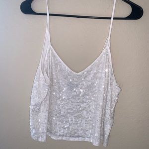 Sequence White Tank Top Crop Top
